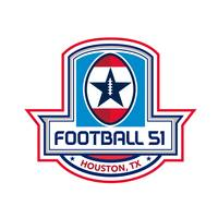 Houston American Football 51 Stars Crest Retro