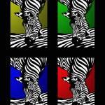 """Zebra Collage schwarz"" by gabii40"