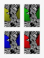 Zebra Collage