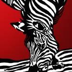 """zebra rot metal"" by gabii40"