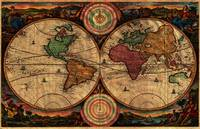 Vintage Map of The World (1730) - Stylized