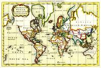 Vintage Map of The World (1766) - Stylized