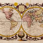 """Vintage Map of The World (1782) - Stylized"" by Alleycatshirts"