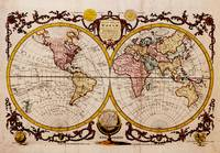 Vintage Map of The World (1782) - Stylized