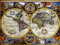 Vintage Map of The World (1626) - Stylized