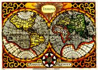 Vintage Map of The World (1596) - Stylized