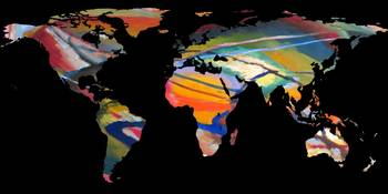World Map Silhouette - An Abstract World
