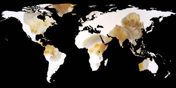 World Map Silhouette - Popcorn