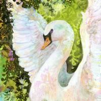 Swan Art Prints & Posters by Jennifer Lommers