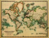 Vintage Map of The World (1911) - Stylized