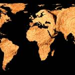 """""""world map hay bales - resized"""" by Alleycatshirts"""