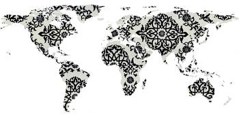 world map pattern white background - 02 - resized