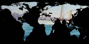 World Map Silhouette - Sailing Round The World