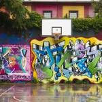 """Graffitied Court"" by raetucker"