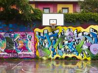 Graffitied Court