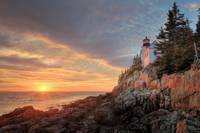 Bass Harbor Light Sunset 2