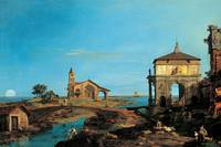 Cannaletto - Island in the Lagoon with a Gateway a