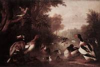 Bogdany -  Landscape with Ducks late 17th Century