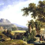 """""""de Valencienn - Landscape_with Figures Drinking by"""" by AllenGraihCompany"""