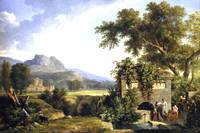 de Valencienn - Landscape_with Figures Drinking by