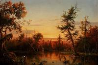 Gignoux - View Dismal Swamp North Carolina 1850-2