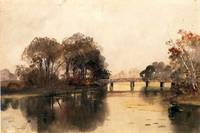 Bannister -  Landscape with Bridge (undated 19th C