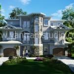 """3D Exterior Residential House"" by yantramstudio"