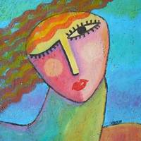Colorful Abstract Portrait of a Woman