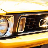 screamin yellow mustang Art Prints & Posters by Kevin Fermoyle