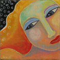 Beautiful Abstract Portrait of a Woman Art Prints & Posters by Jackie Ludtke