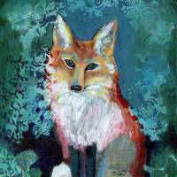 Shy Fox Art Prints & Posters by Jennifer Lommers
