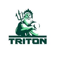 Triton Arms Crossed Trident Front Retro