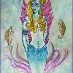 """Mermaid with Seahorses"" by ChrisCrowley"