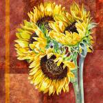 """Decorative Sunflowers Painting"" by IrinaSztukowski"