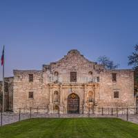 """The Alamo at Dusk"" by beecreekphotography"