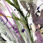 """Abstract Modern Organic Watercolor and Ink 1"" by GinetteCallaway"