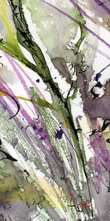 Abstract Modern Organic Watercolor and Ink 1