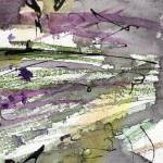 """Abstract Modern Organic Watercolor and Ink 2"" by GinetteCallaway"