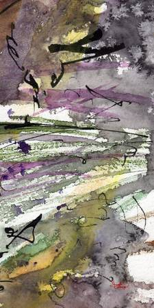 Abstract Modern Organic Watercolor and Ink 2