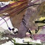 """Abstract Modern Organic Watercolor and Ink 3"" by GinetteCallaway"