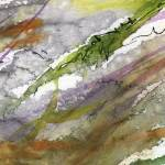 """Abstract Modern Organic Watercolor and Ink 4"" by GinetteCallaway"