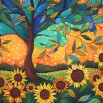"""""""Sunflowers At Sunset"""" by PeggySueDavis"""
