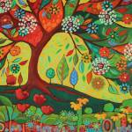 """""""Retro Folk Art Tree"""" by PeggySueDavis"""