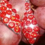 """Grapes_&_Red_Earrings"" by raquellegittens"