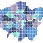 """London Map - Blue"" by garyhogben"