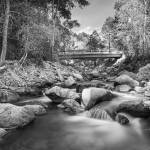 """Mountain Creek Bridge in Black and White"" by lightningman"