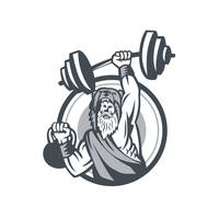 Berserker Lifting Barbell Kettlebell Circle Retro