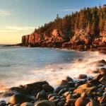 """Boulder Beach Seascape, Acadia National Park"" by RoupenBaker"