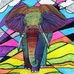 """The Mighty Elephant by Laura Barbosa"" by ArtPrints"