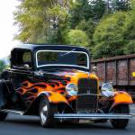 """1932 Ford Fendered and Flamed Coupe_HDR"" by FatKatPhotography"